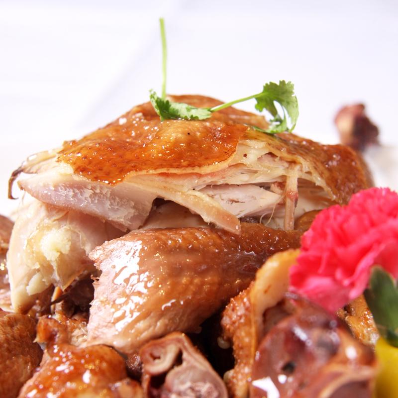 德州产扒鸡山东烧鸡休闲卤味鸡肉零食熟食500g五香脱骨鸡真空年货
