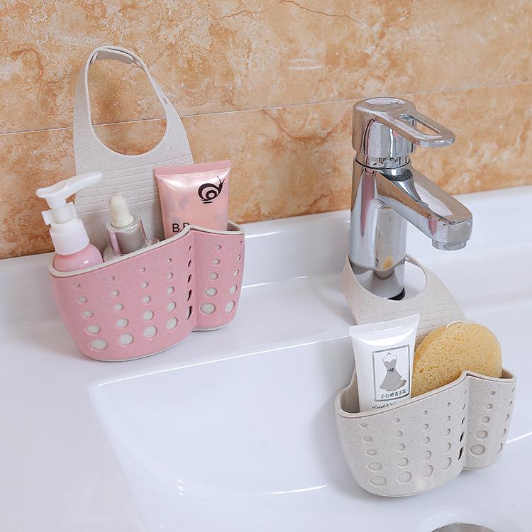 厨房用品水龙头水槽沥水篮沥水挂袋置物架水池海绵收纳挂篮沥水架