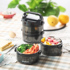 Multi-layer stainless steel lunch box male with lid portable round lunch box office worker insulated lunch bucket large capacity portable small