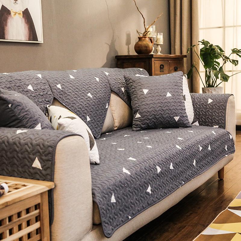 沙发垫简约现代全盖纯棉布艺四季通用防滑坐垫夏季欧式沙发套罩巾