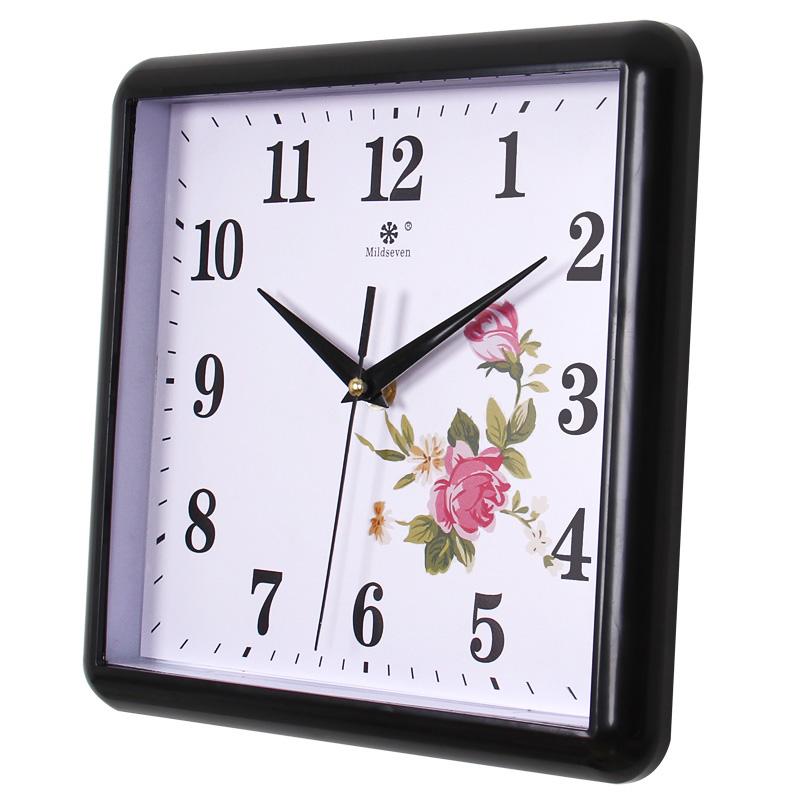 钟表挂钟客厅时尚简约时钟静音小儿童房长方形家用装饰石英钟挂表