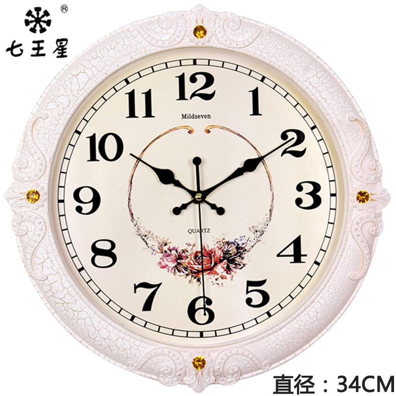 钟表挂钟客厅欧式时尚圆形大气创意电子石英钟家用静音时钟挂表