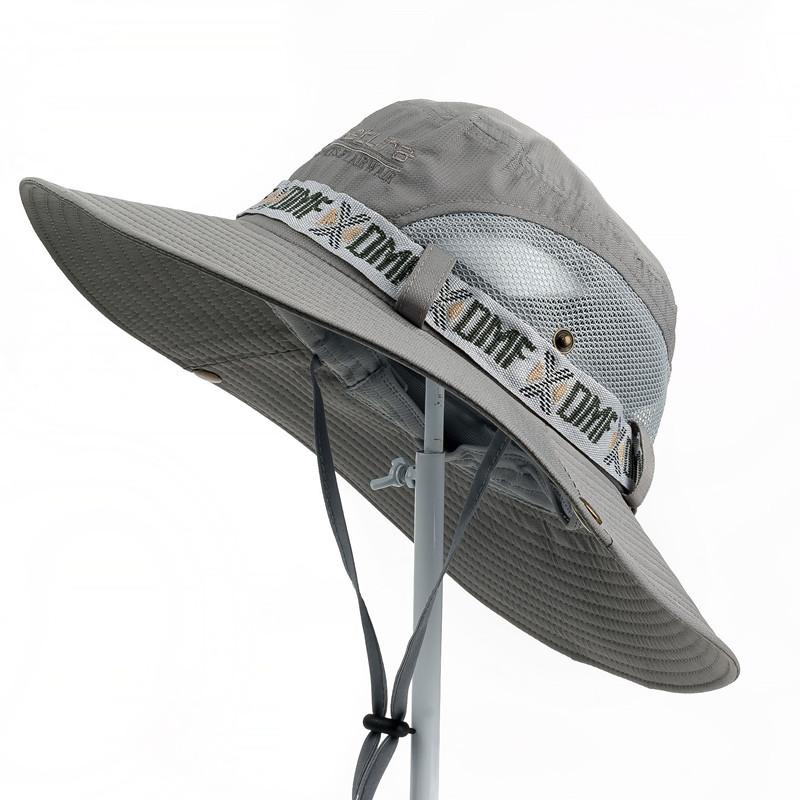 帽子遮阳帽男户外夏天防晒遮脸渔夫草帽钓鱼牛仔太阳帽男凉帽登山