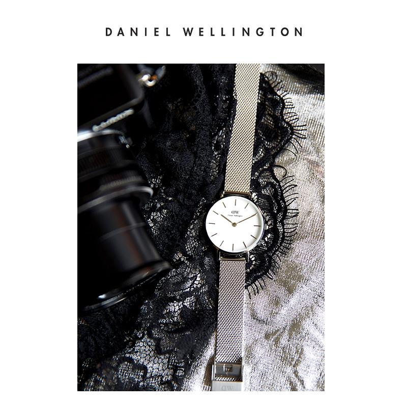 Danielwellington丹尼尔惠灵顿dw手表女手镯套装28mm金属表带女表
