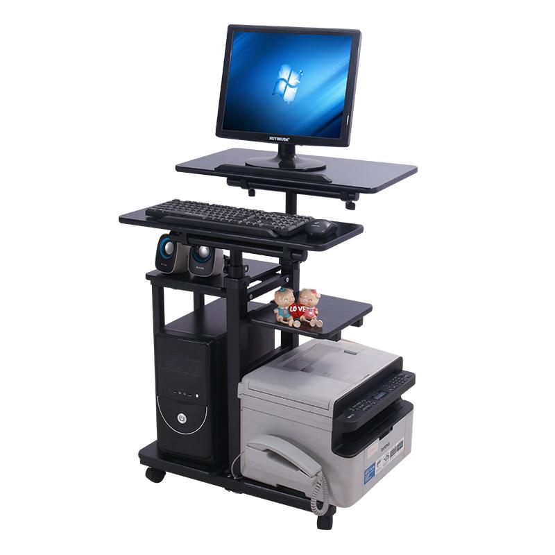 电脑台式桌家用简约移动懒人桌经济型办公桌站立式电脑升降桌架