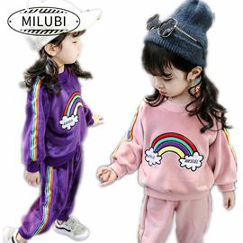 女宝宝冬季套装衣服洋气公主中小童女童新过年外出表演模特1-3岁