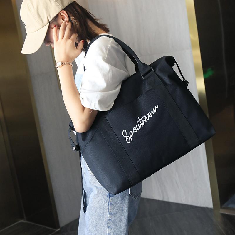 网红旅行包女手提大容量轻便行李包袋短途背包旅游出差待产健身包