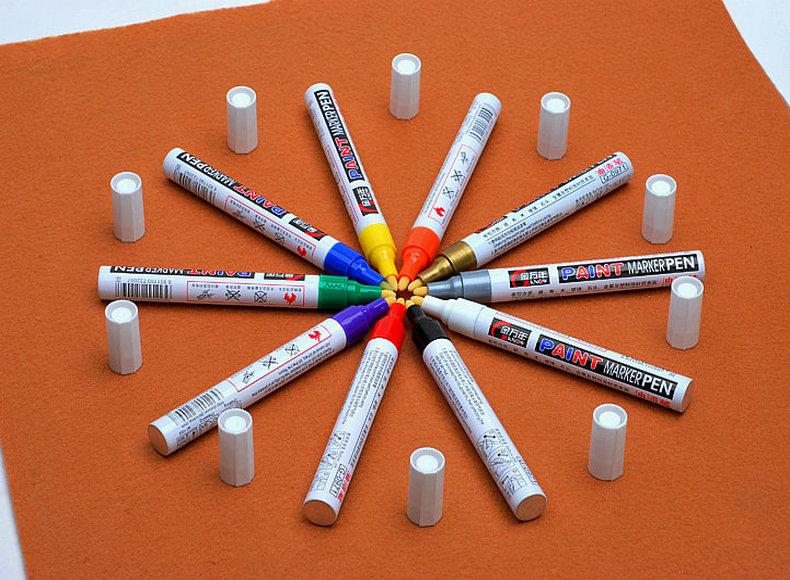 金万年 油漆笔/油性笔 轮胎笔 补漆笔 涂鸦笔 签到笔 G-0971 十色油漆笔  金色白色绿色黑色红色银色 油漆笔