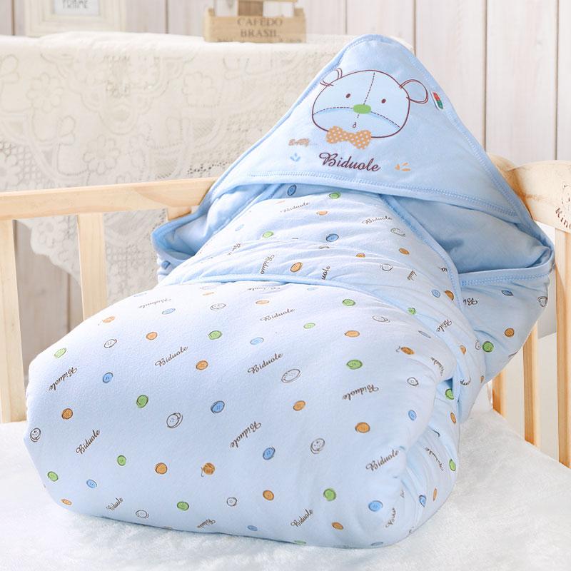 秋冬加厚新生儿抱被 春秋季初生婴儿包被 幼儿小被子可脱胆抱毯