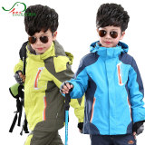Like the boss children's jacket boys and girls waterproof two-piece two-in-one outdoor ski suit big boy 170