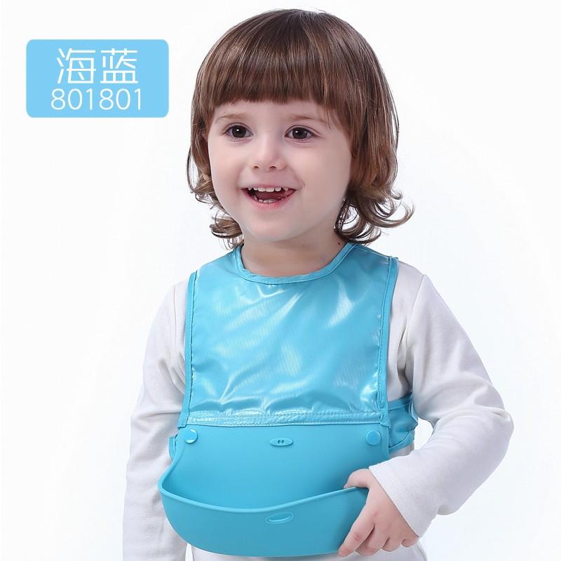 硅胶围兜幼儿园宝宝吃饭小孩防水食饭兜婴儿围嘴儿童喂饭超软大号
