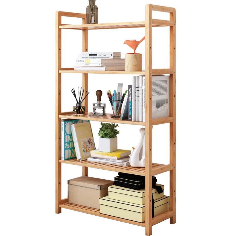 楠竹置物架子简易客厅书架卧室房间收纳储物架浴室木隔板落地层架