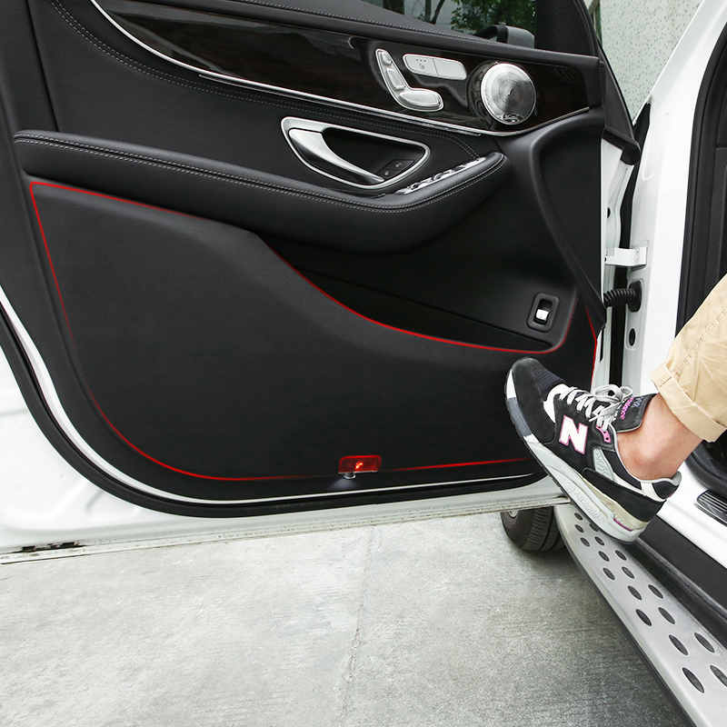 奔驰GLC260LGLA级C级C200LC260LE级E300L车门防踢垫座椅内饰改装