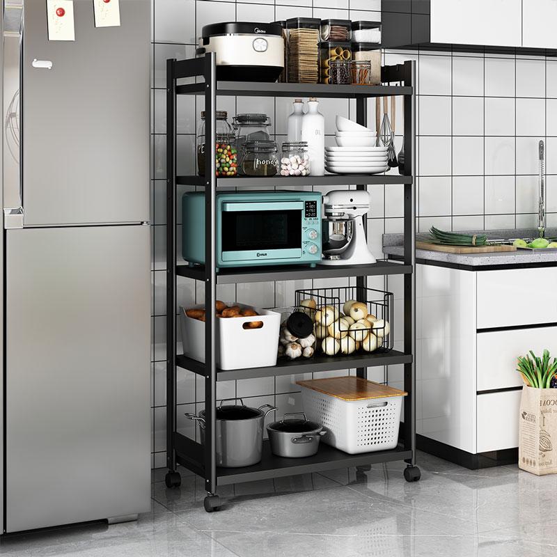 微波炉置物架落地多层厨房放锅架子储物电器烤箱电饭锅家电收纳柜