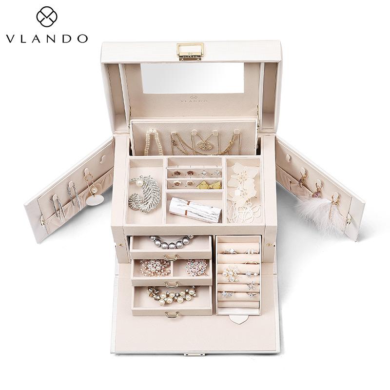 唯兰朵首饰盒女公主欧式韩国珠宝饰品收纳盒耳环结婚生日礼物品