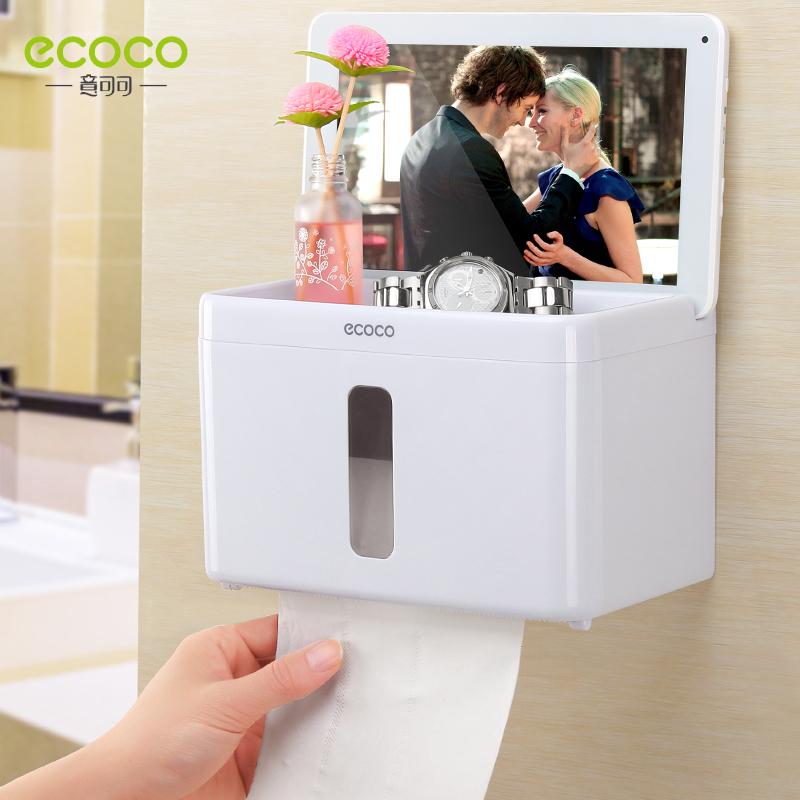 卫生间厕所纸巾盒免打孔卷纸筒抽纸厕纸盒防水卫生纸置物架手纸盒