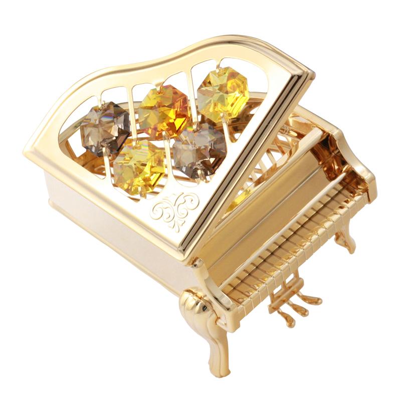 音乐盒摆件模型家居装饰品生日情人节礼物 水晶钢琴 CRYSTOCRAFT