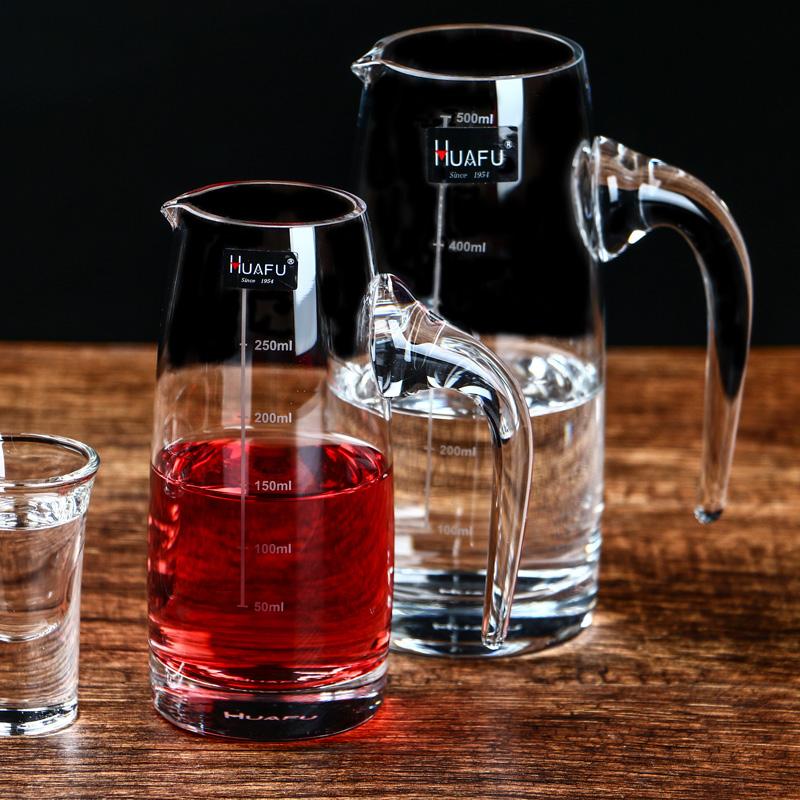 白酒分酒器红酒醒酒器家用酒壶饭店用玻璃欧式个性酒具带刻度