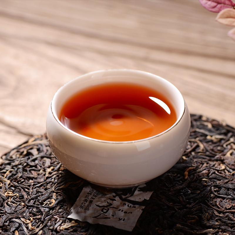 克 200 云南滇红红茶滇红茶饼亿品贤花间意滇红茶叶云南红茶滇红饼