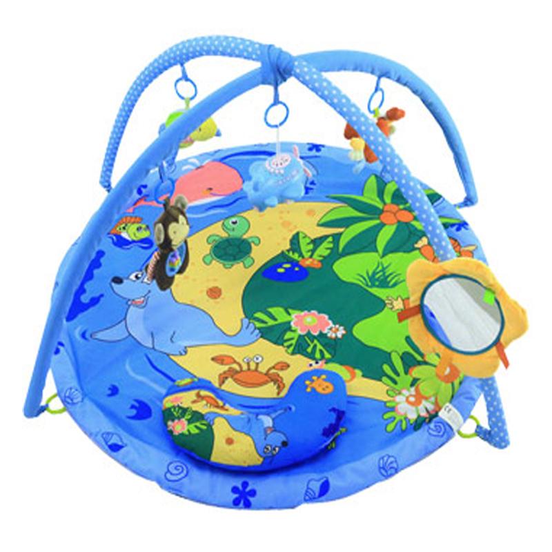 婴儿脚踏琴音乐健身架新生儿玩具毯宝宝爬行垫3-6-12个月母婴用品