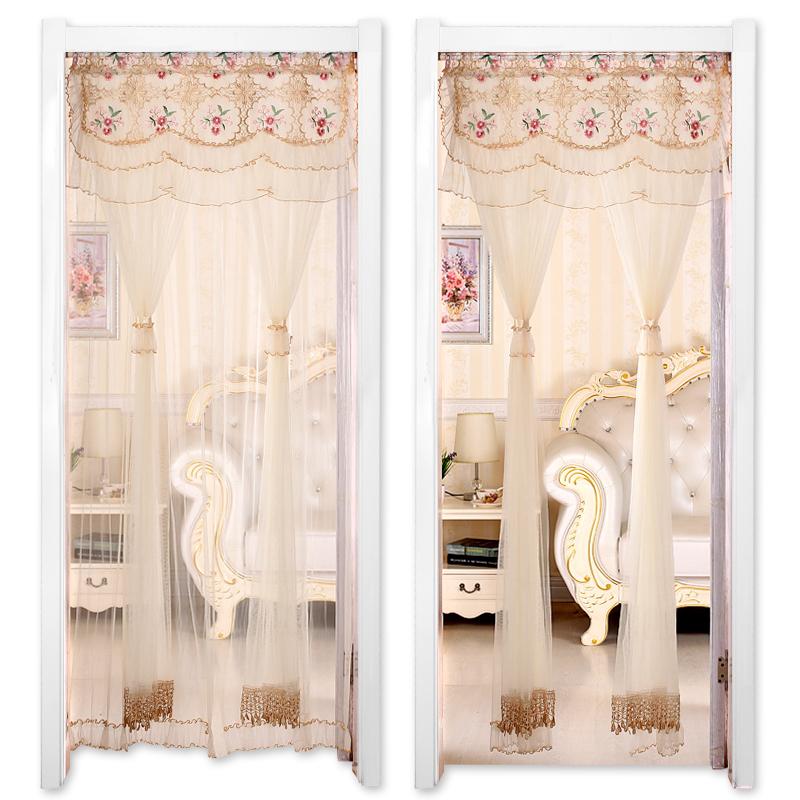 门帘隔断帘布艺半帘布风水帘卫生间卧室厨房试衣间挂帘免打孔送杆