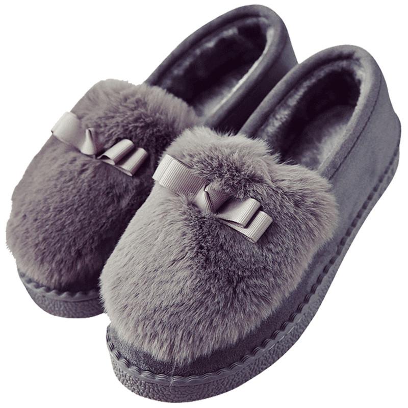 棉拖鞋女冬季月子鞋包跟居家居产后室内厚底外穿秋冬毛毛棉鞋软底