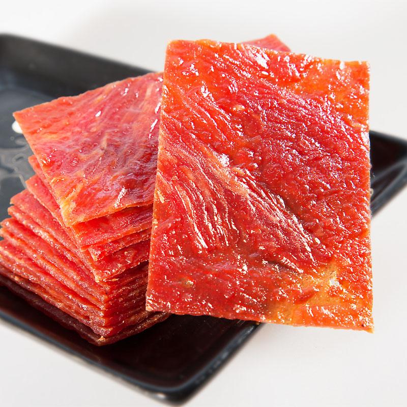 包邮原味蜜汁孜然猪肉铺肉干猪肉类零食 300g 新品味巴哥烘烤猪肉脯