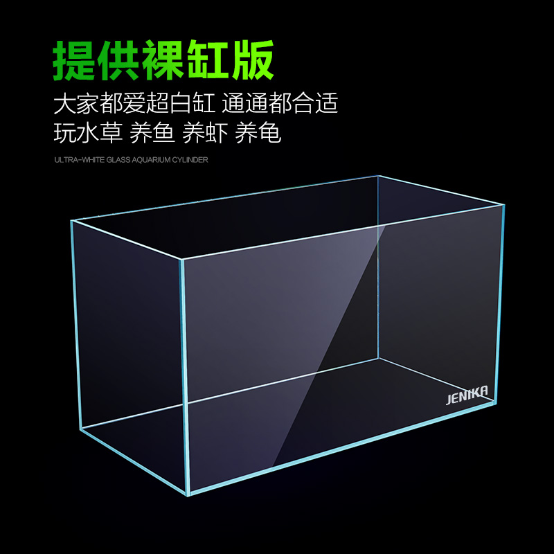 超白鱼缸玻璃客厅桌面生态免换水小型鱼缸迷你斗鱼金鱼乌龟长方形