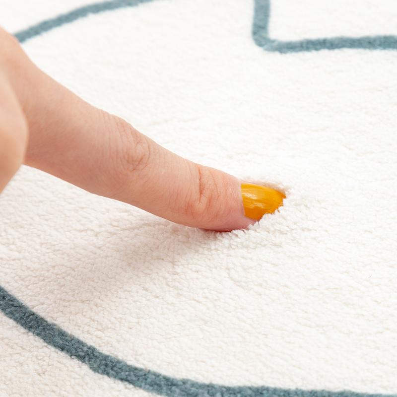 优立客厅卧室地毯北欧几何ins少女心超柔网红拍照可水洗茶几地垫 - 图3