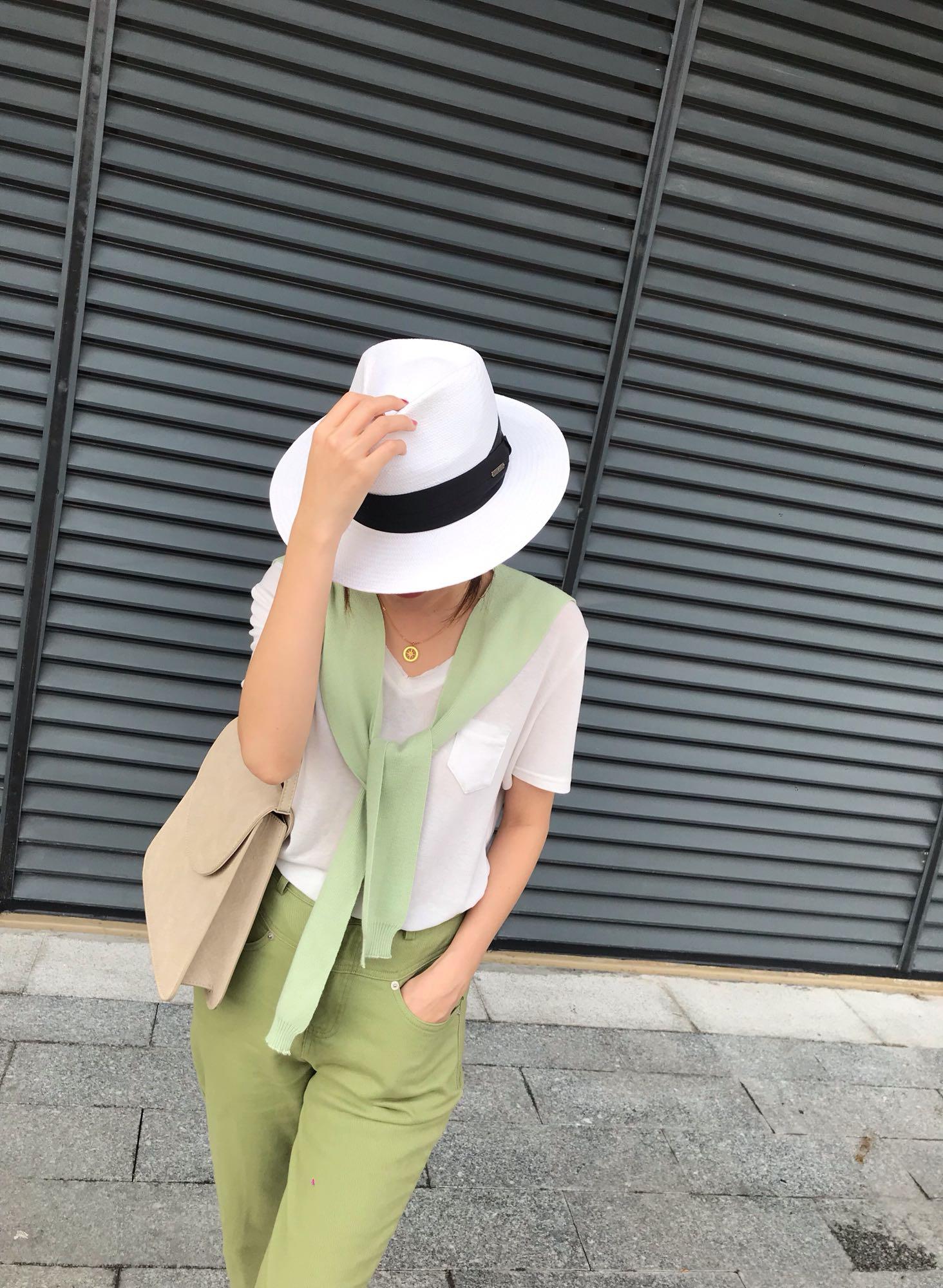UMI2021春夏新款韩版休闲百搭纯色针织披肩假领坎肩外搭领巾围脖