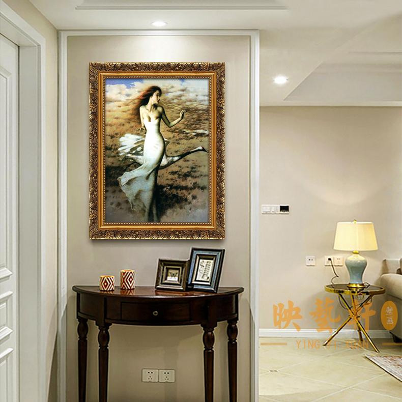 美女裸裝飾畫人體藝術美容院酒店賓館壁畫走廊過道浴室防水掛畫