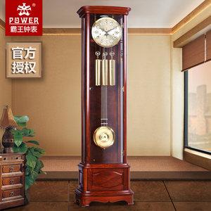 霸王钟表实木机械落地钟德国赫姆勒机芯红木立钟欧式别墅客厅座钟