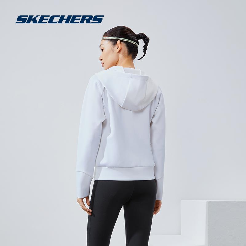 【立即付定】Skechers斯凯奇2021年秋冬新女针织开衫运动夹克外套