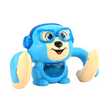 Crawling little monkey somersaults electric rolling sound and light puzzle boys and girls baby infant children's toys dump