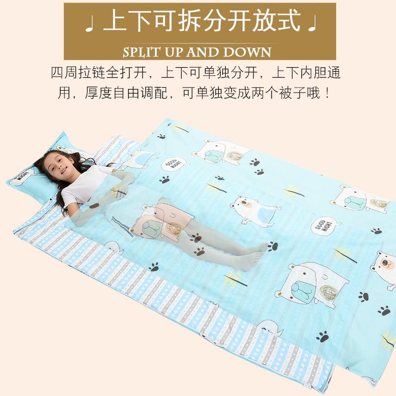 桑蚕丝儿童睡袋秋冬薄款宝宝中大童防踢被子小学生成人四季通用
