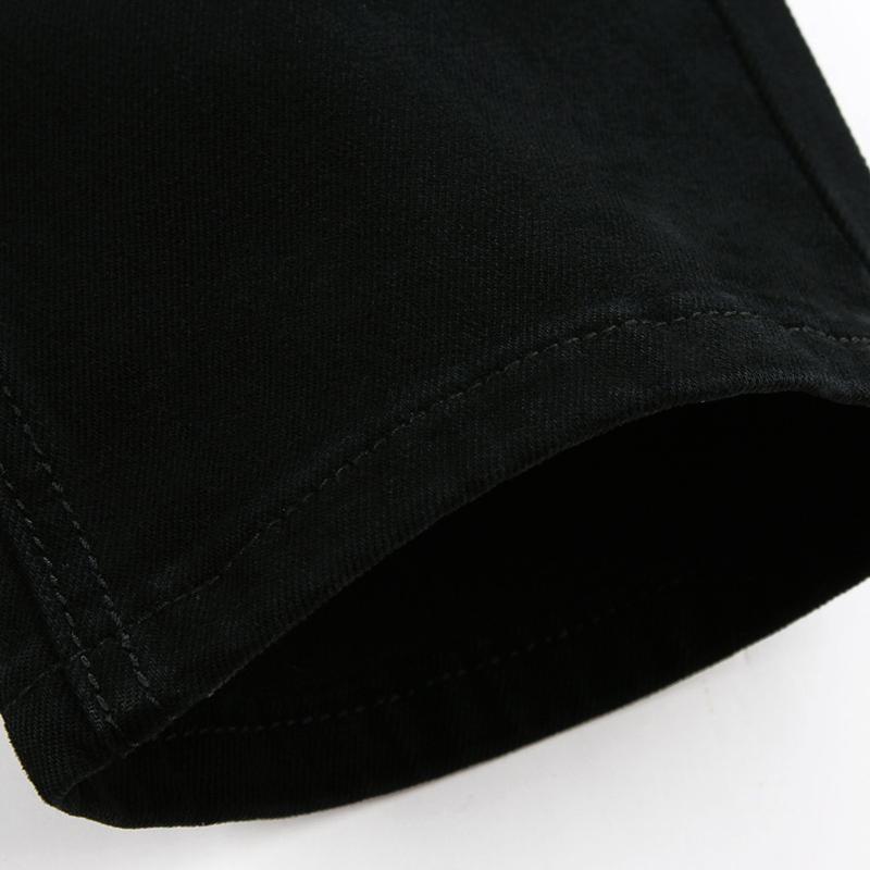 黑色牛仔裤男士秋季弹力修身直筒裤子男韩版潮流秋冬款休闲长裤装