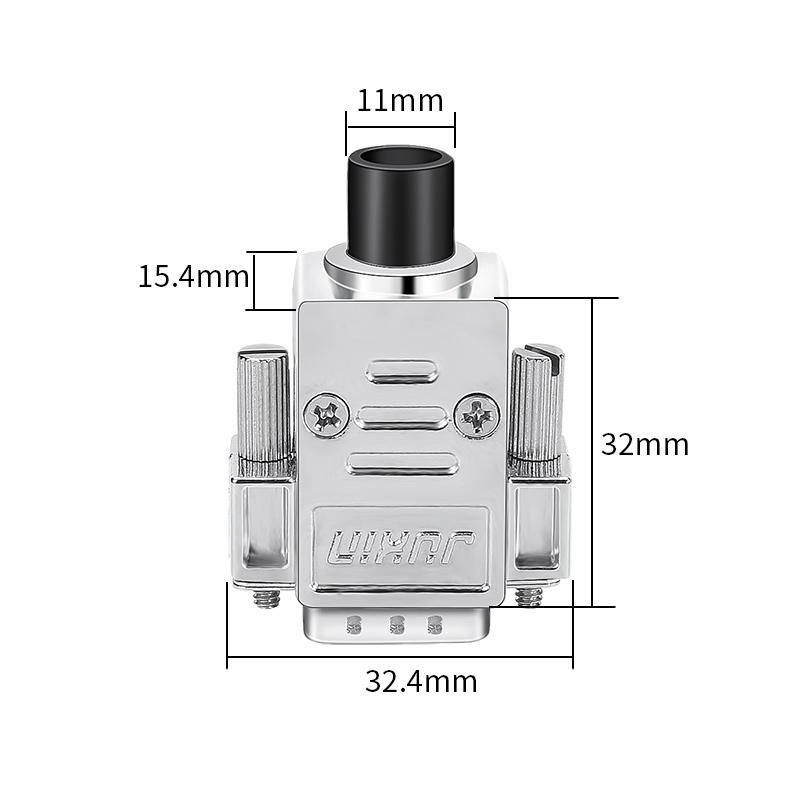 迷你型VGA焊接插头公母头3排15针连接器HDB15电脑投影仪接头DB15