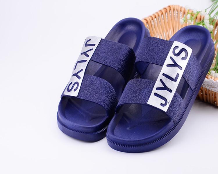 夏季男凉拖鞋加厚浴室防滑拖鞋潮拖鞋沙滩鞋厚底一字拖中老年凉拖