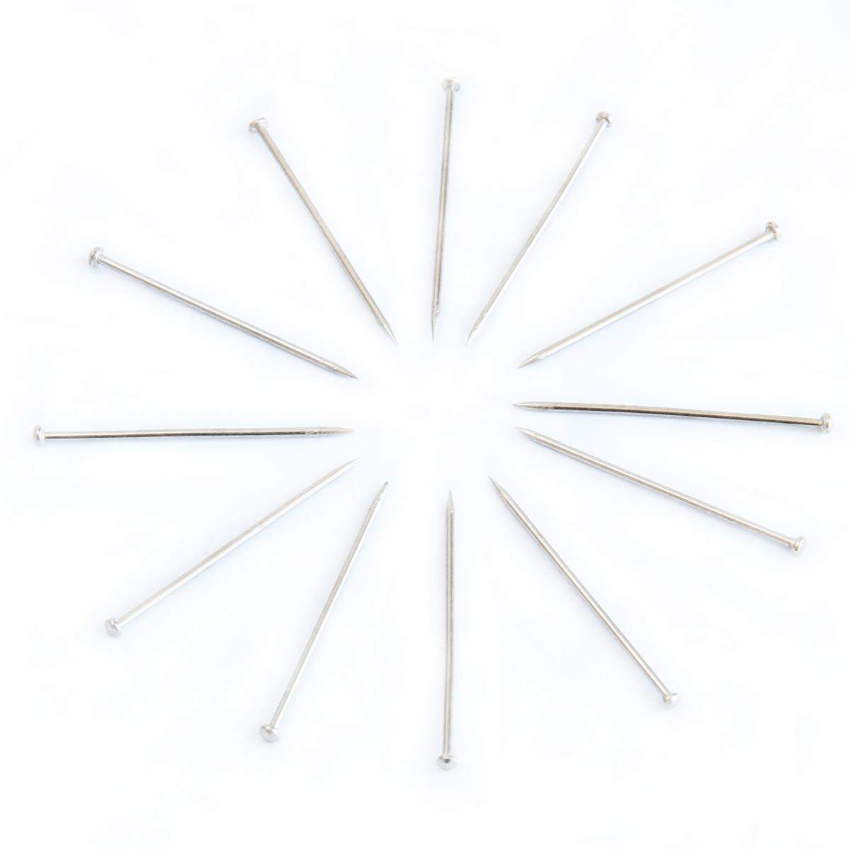 得力大头针珍珠针办公用定位针固定针短别针小号固定钓鱼线组钉针服装固定针银色针钉家用扎针打头裁缝立裁针
