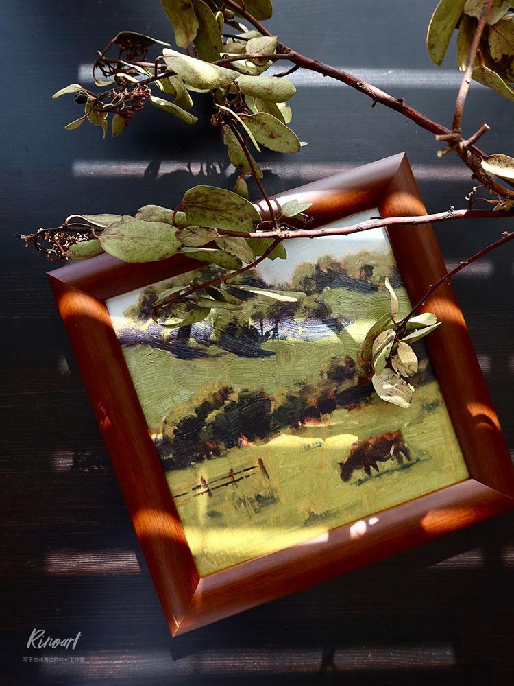 犀牛艺廊《Passture in Kassa》草原手绘油画效果复刻小幅装饰画