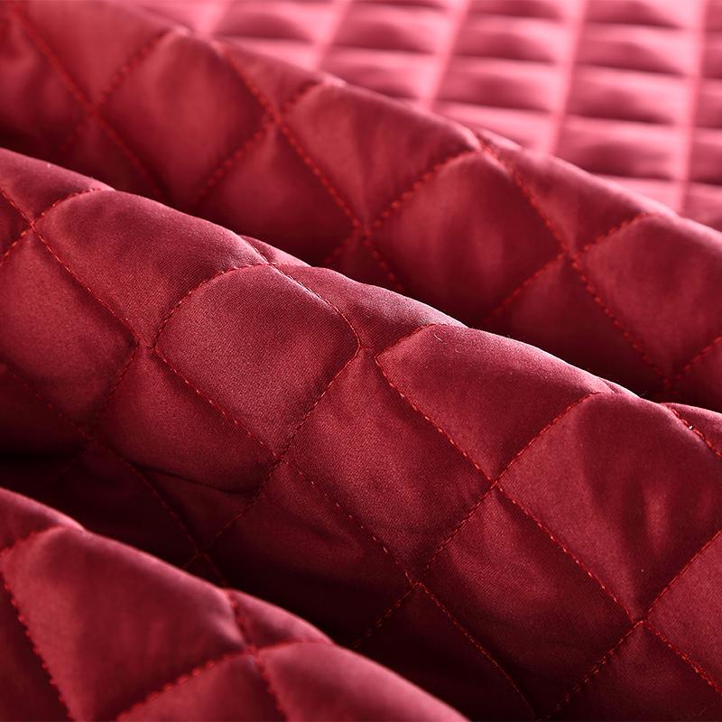 奥奇花语新款欧式绗缝夹棉床盖三件套加大双人可机洗加厚床单床罩