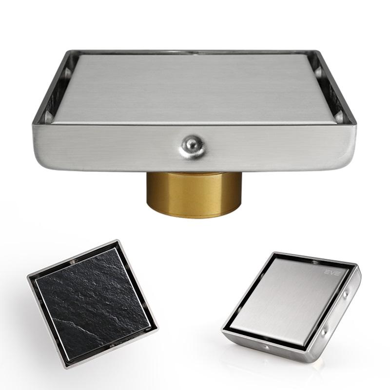 方形隐形地漏 304不锈钢淋浴房防臭器浴室卫生间隐藏式地漏盖芯