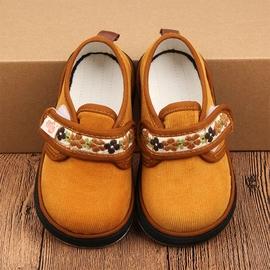 纯色条绒老北京手工布鞋宝宝儿童千层底布鞋幼儿园鞋家居鞋春秋款