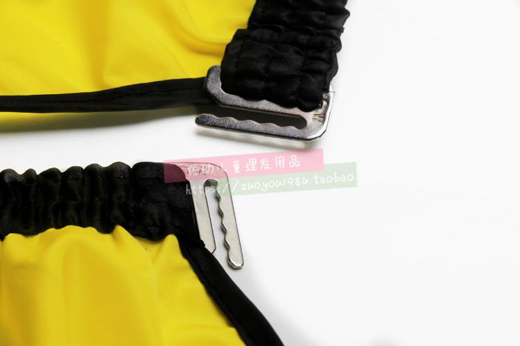 韩国高档透明理发围布 防水不沾发美发围布 儿童剪发围布专业发廊