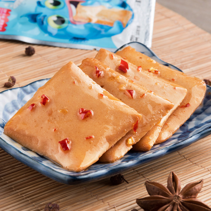 好味屋鱼豆腐60包小零食麻辣味豆腐干条散装整箱小吃休闲食品 No.3
