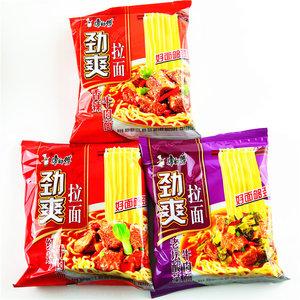 康师傅方便面劲爽拉面整箱袋装24包混搭速食食品红烧牛肉香辣泡面