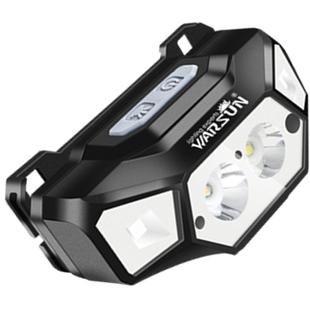 防水可充电LED双色感应头灯
