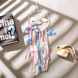 Flutter Dreamcatcher material diy handmade woven package Mori Department made feather light wind chimes ornaments creative birthday gift