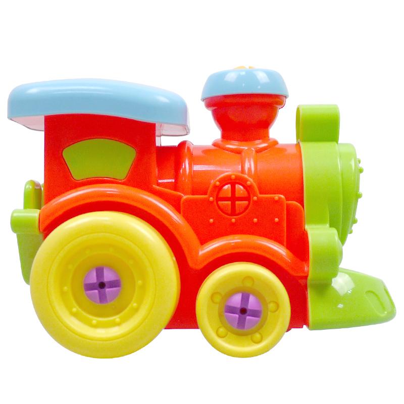 卡通动物拼装螺母组合拆装汽车玩具 可拆卸儿童益智玩具 男孩3岁