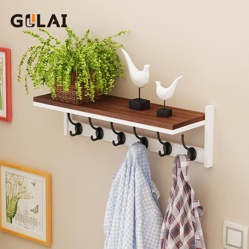 掛衣架壁掛牆上多功能簡約現代玄關卧室衣帽架客廳進門置物架掛鉤